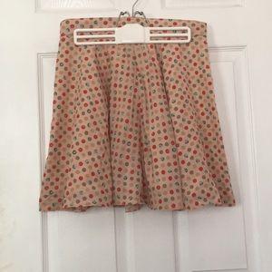 Colorful Polka Dot Skirt